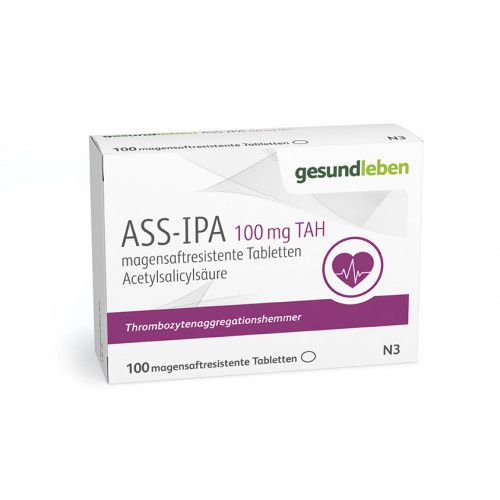 ASS-IPA 100 mg TAH magensaftresistente Tabletten